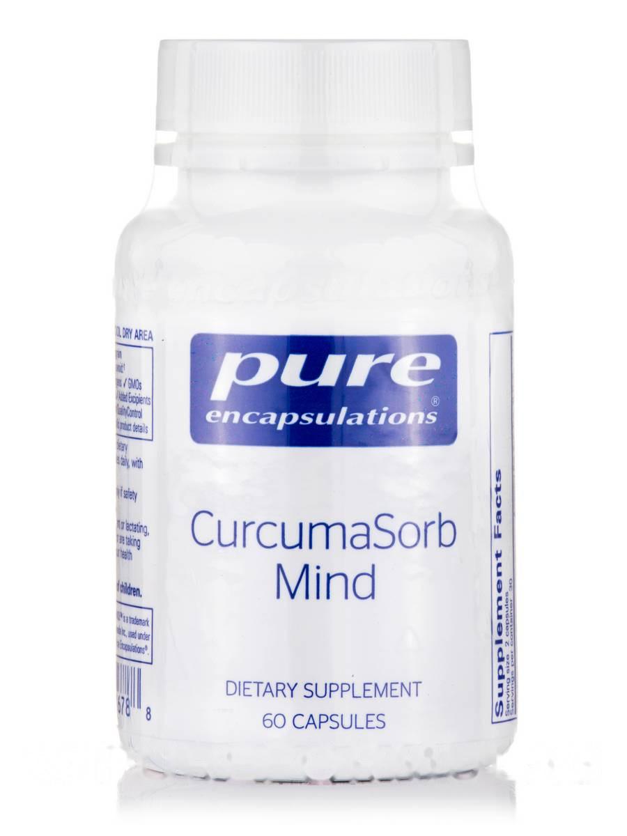 Куркума Мислення, CurcumaSorb Mind, Pure Encapsulations, 60 Капсул