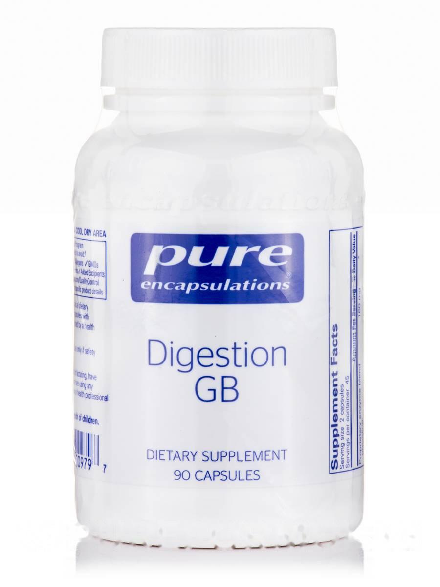 Усвоение пищи GB, Digestion GB, Pure Encapsulations, 90 Капсул