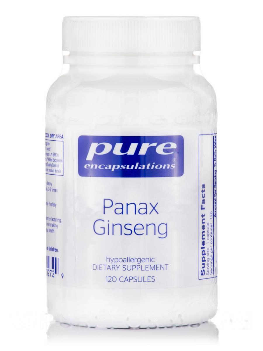 Панакс Женьшень, Panax Ginseng, Pure Encapsulations, 120 Капсул