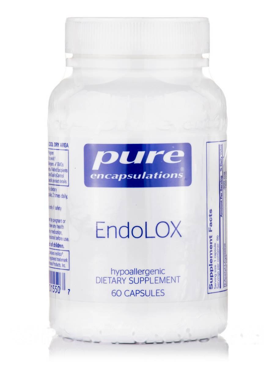 Эндолокс, EndoLOX, Pure Encapsulations, 60 Капсул