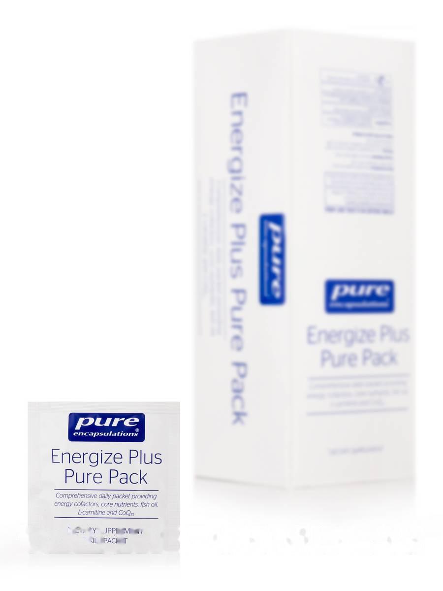 Энергия Плюс с Метафолином L-5-MTHF, Energize Plus Pure Pack with Metafolin L-5-MTHF, Pure Encapsulations, 30