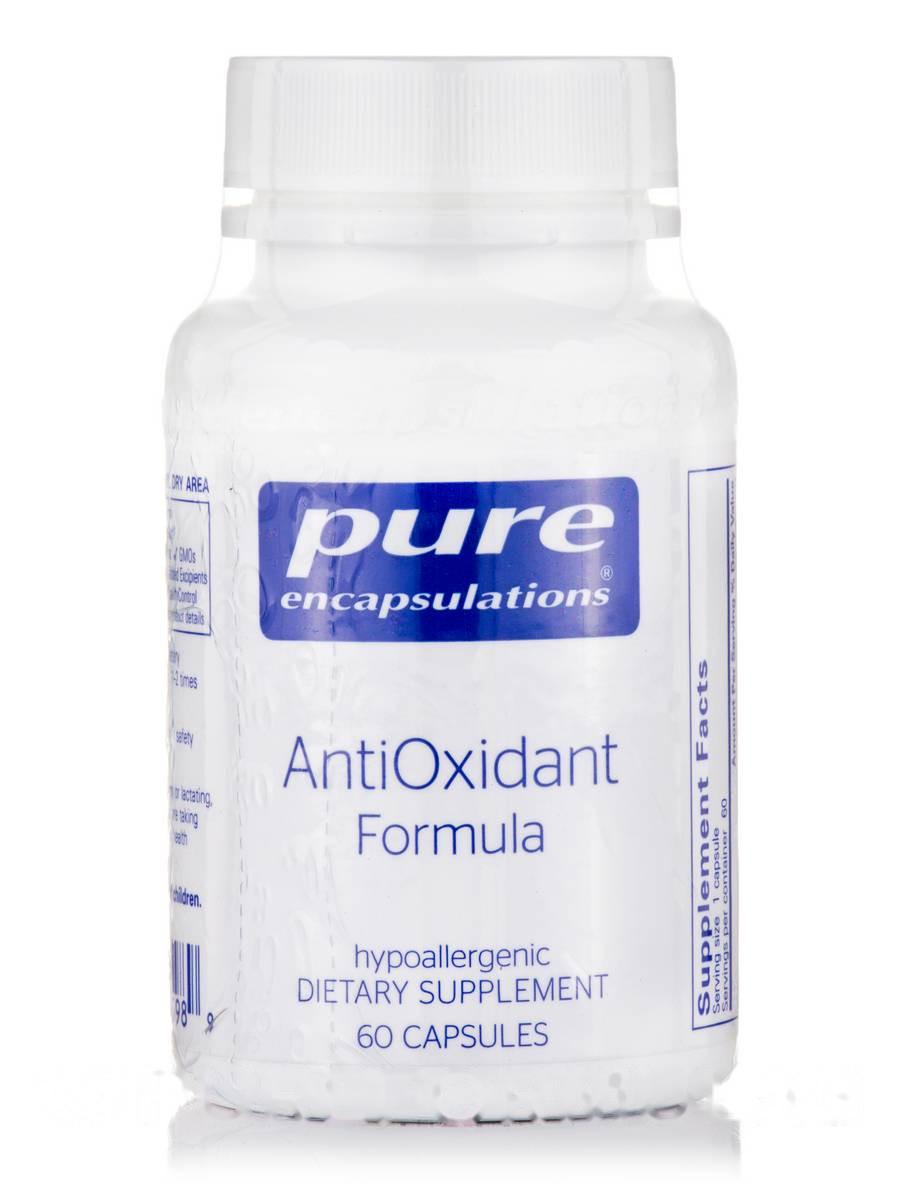 Антиоксидантна формула, AntiOxidant Formula, Pure Encapsulations, 60 капсул