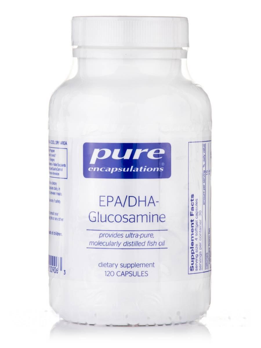 EPA/DHA-Глюкозамін, EPA/DHA-Glucosamine, Pure Encapsulations, 120 Капсул
