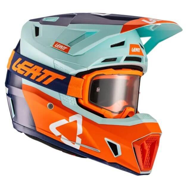 Шлем Leatt Ice Moto 7.5 V21.2 Шлем с очками 4.5