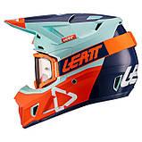 Шлем Leatt Ice Moto 7.5 V21.2 Шлем с очками 4.5, фото 2
