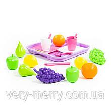 46970 Набор продуктов №2 с посудкой и подносом 21 элемент в сеточке