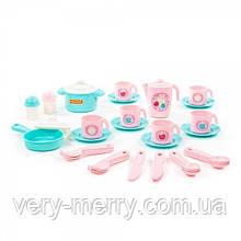 """Набір дитячого посуду """"Настюша"""" на 6 персон (E4) (38 елементів) (в сіточці), 20*15см. (80035)"""