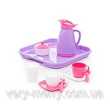 """Набір дитячого посуду """"Аліса"""" з тацею на 2 персони (Pretty Pink) 40589"""