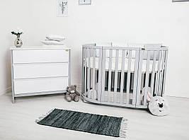Дитяче ліжечко Angelo Кругле овальне Сіре