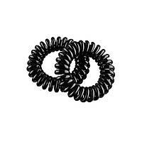 Резинка для волос спираль  черные 2шт/уп Eurostil