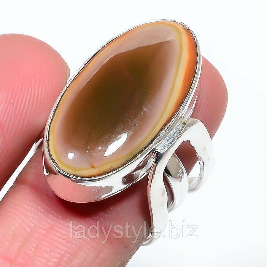 Кольцо с императорской яшмой , размер 18