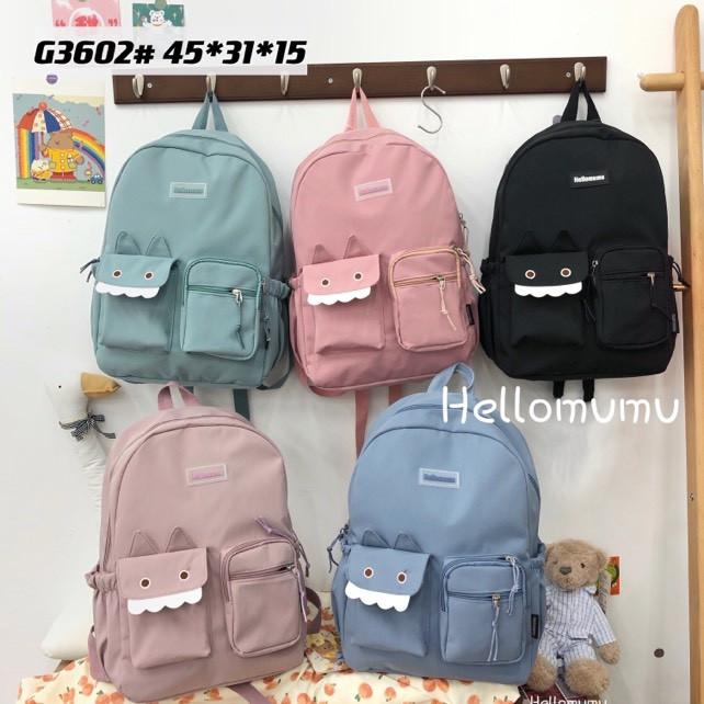 Рюкзак подростковый школьный с накладным карманом городской стильный 45*31 см в разных цветах Mark