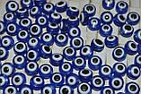 Бусины от сглаза. круглые, приплюснутые. синие, фото 2