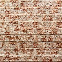 Lb Модульная 3D панель гибкая на клейкой основе декоративная 3 д самоклейка на стену под кирпич Красный мрамор