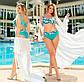 """Жіночий роздільний купальник у великих розмірах 507 """"Ліф Принт Палітурка"""" в кольорах, фото 3"""