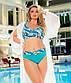 """Жіночий роздільний купальник у великих розмірах 507 """"Ліф Принт Палітурка"""" в кольорах, фото 7"""