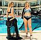 """Жіночий роздільний купальник у великих розмірах 507 """"Ліф Принт Палітурка"""" в кольорах, фото 4"""