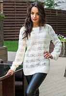 Женский ажурный свитер Snowflake