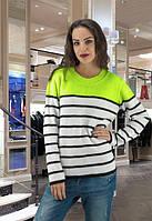 Женский свитер в полоску Popular