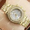 Стильные наручные часы Rolex Brilliant Gold/ Silver 2074