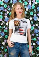 Женская белая футболка Shhh..