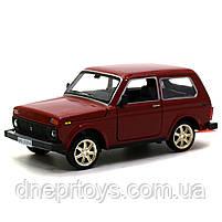 Игрушечная машинка металлическая ВАЗ Lada Niva «Автопром», красный, от 3 лет, 16*8*7 см, (21214), фото 2