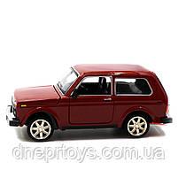 Игрушечная машинка металлическая ВАЗ Lada Niva «Автопром», красный, от 3 лет, 16*8*7 см, (21214), фото 6
