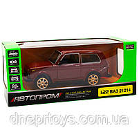 Игрушечная машинка металлическая ВАЗ Lada Niva «Автопром», красный, от 3 лет, 16*8*7 см, (21214), фото 7