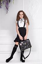 """Дитяча шкільна спідниця на лямках """"Діна"""" з воланом, фото 2"""