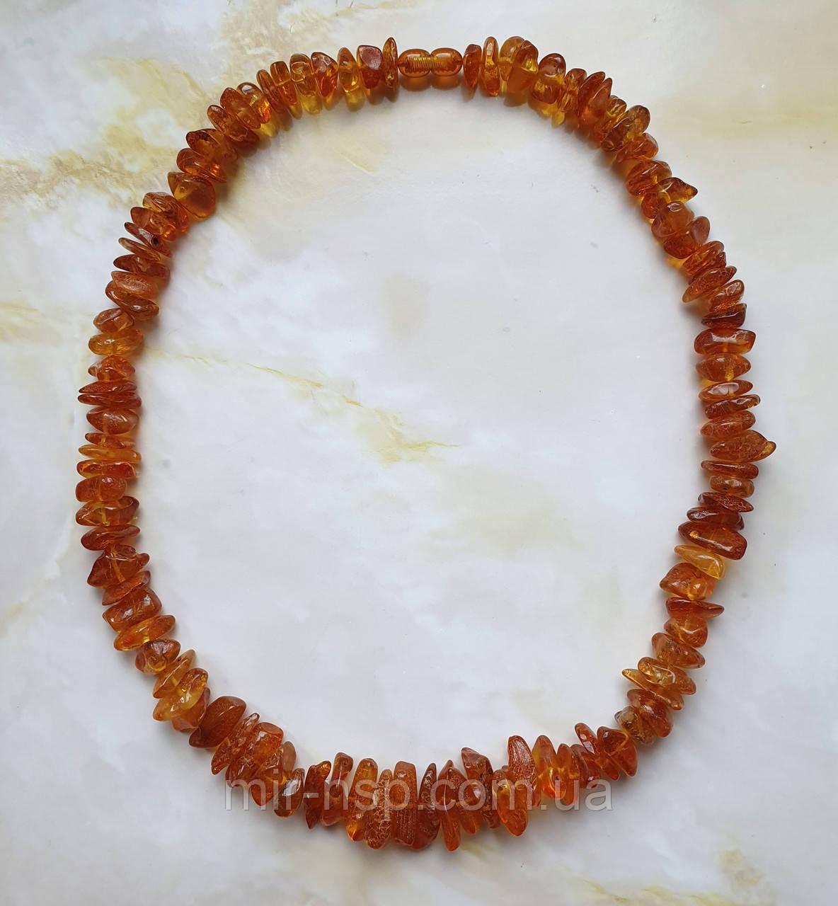 Намисто 100% натуральний бурштин (не прес, не плавка) вага 46г довжина 54 см
