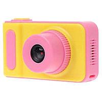Детский цифровой фотоаппарат Smart Kids V7 Желто-розовый 77-01215-01 TV, КОД: 1869276