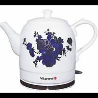 Чайник электрический Керамика ViLgrand VC0515R 1.5 л Белый 34-45642 TV, КОД: 911623