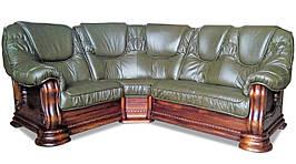Угловой кожаный диван Гризли