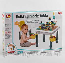 Игровой столик с конструктором со стульчиком 6в1 двусторонняя поверхность 121 Больших деталей