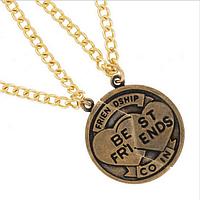 """Кулоны для двоих друзей в виде монеты """"Best friends"""", фото 1"""