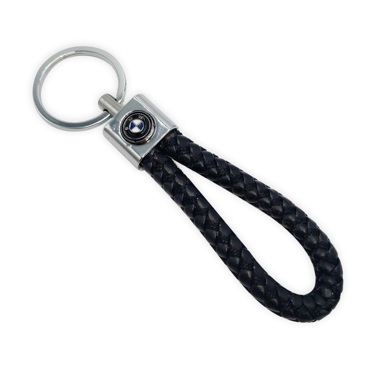 Брелок для автомобильных ключей BMW, черный брелок с логотипом BMW