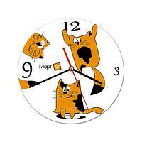 Часы настенные с логотипом (индивидуальный дизайн)