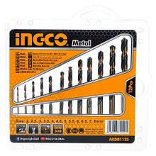 Набір свердел по металу 12 шт 2-8 мм INGCO