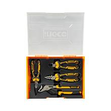 Набір шарнірно-губцевого інструменту Profi 4 предмети INGCO