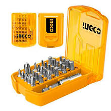 Набір біт з держателем 30 предметів INGCO