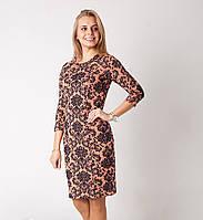 Нарядное платье из плотного и эластичного трикотажа с выбитым жаккардовым рисунком