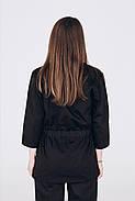 Кофта медична, робоча, універсальний Toffy Жіноча Чорна, фото 4