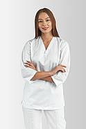 Кофта медицинская, рабочая, универсальная Toffy Женская Белая, фото 2