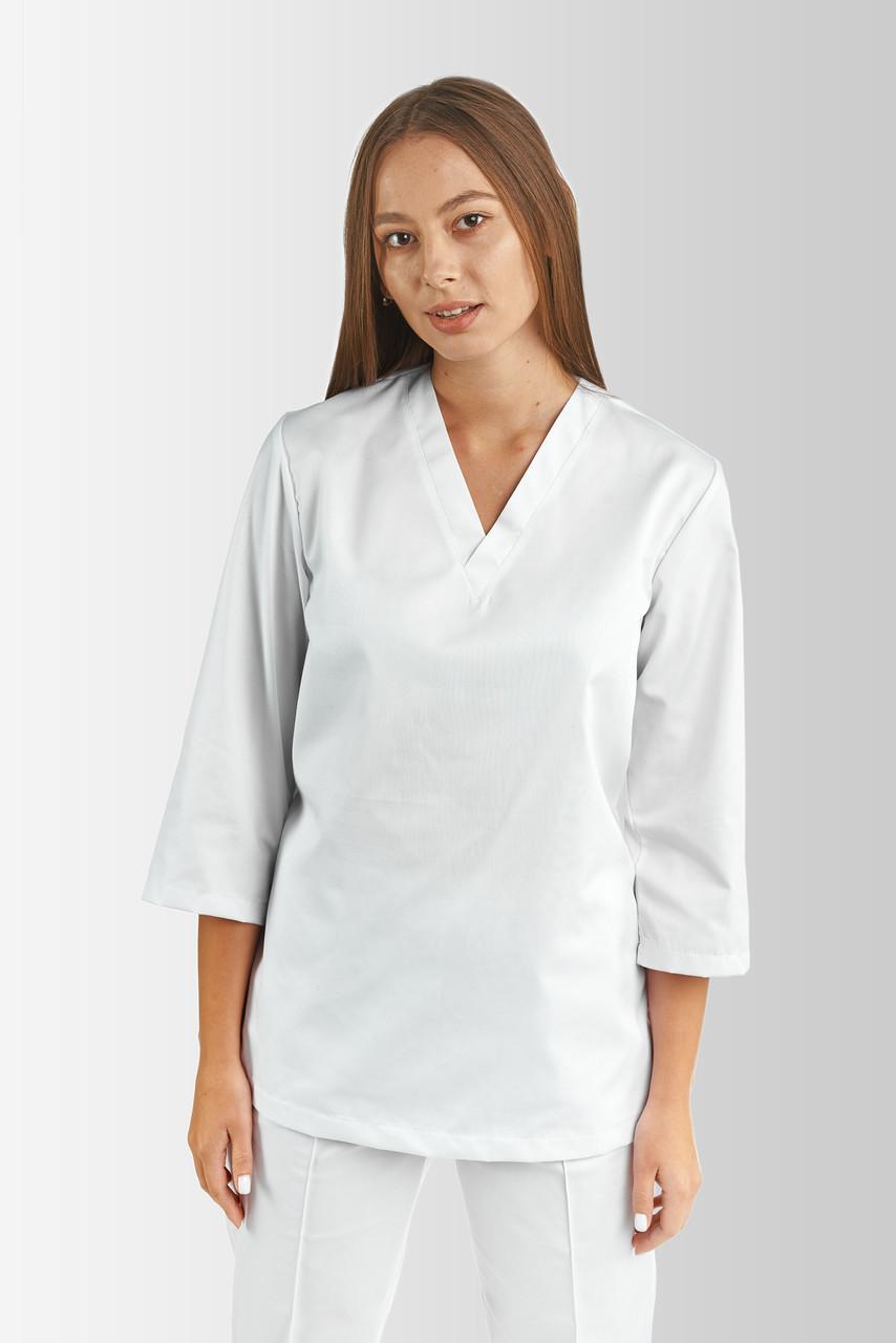 Кофта медична, робоча, універсальна Toffy Жіноча Біла