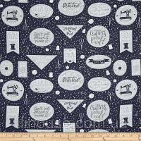 """Американский Хлопок Ткань для Пэчворка и Рукоделия """"Creative на Сером"""" 24*55 см"""
