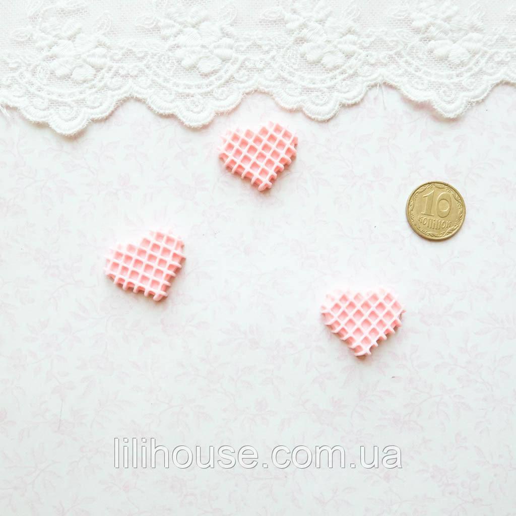 1:12 Миниатюра Вафелька Розовая 2 см