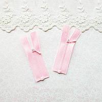 Молния Мини  РАЗЪЕМНАЯ для Кукольной Одежды и Сумок 7.5 см РОЗОВАЯ