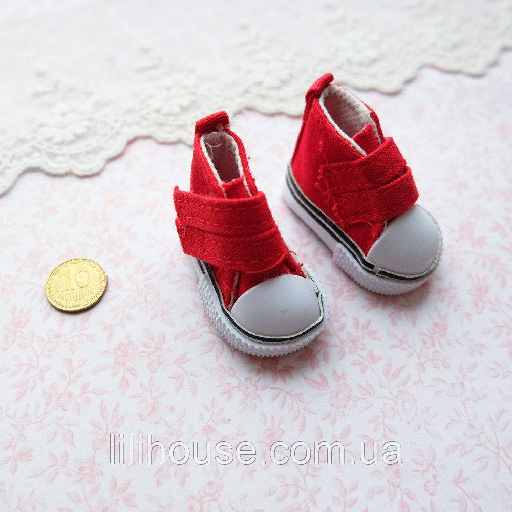 Обувь для кукол Кеды на Липучке 5*2.5 см КРАСНЫЕ
