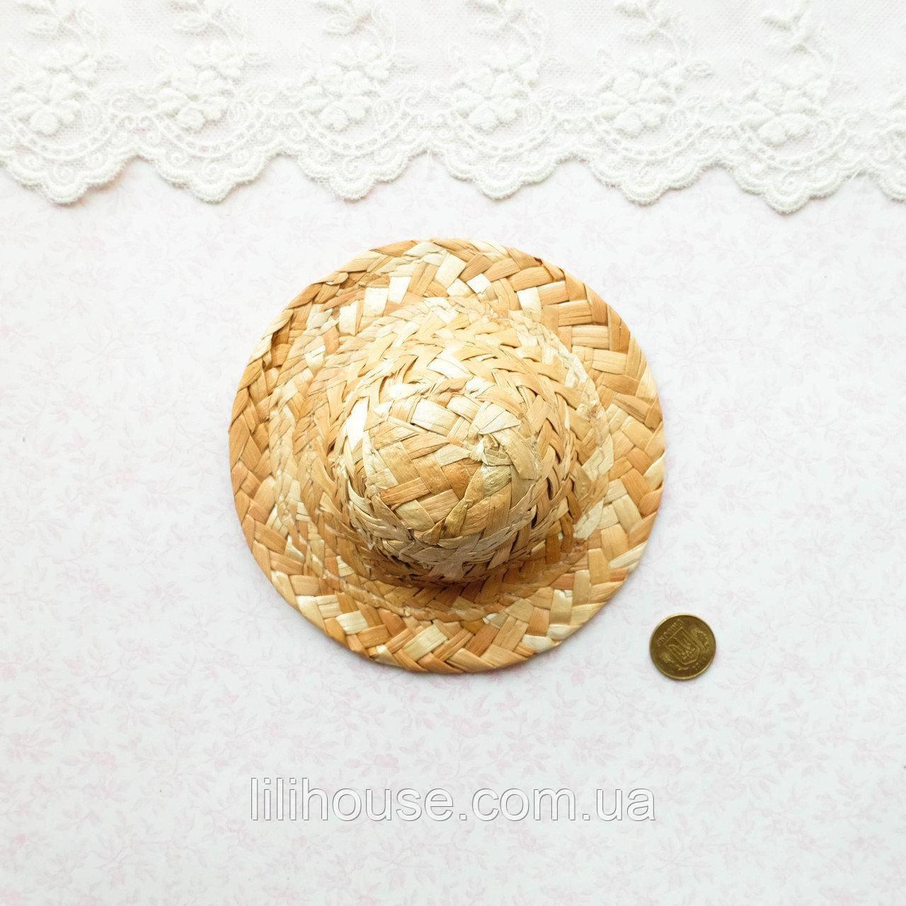 Соломенная Шляпа для Кукол и Игрушек 11.5 см