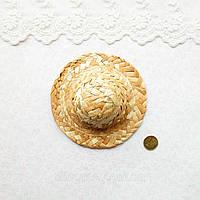 Соломенная Шляпа для Кукол и Игрушек 11.5 см, фото 1